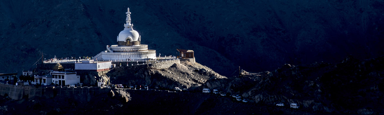 Buddhist stupa - Ladakh, India