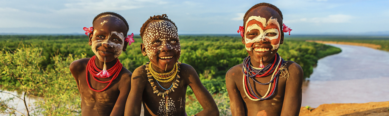 Karo tribe boys - Omo Valley, Ethiopia
