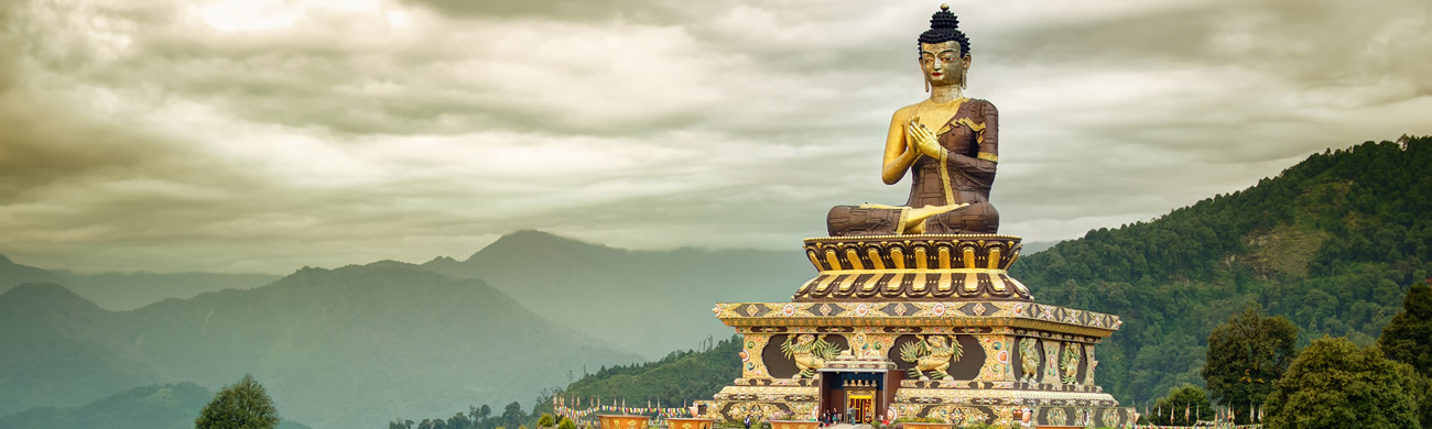 Lord Buddha Statue at Rabangla - Sikkim, India