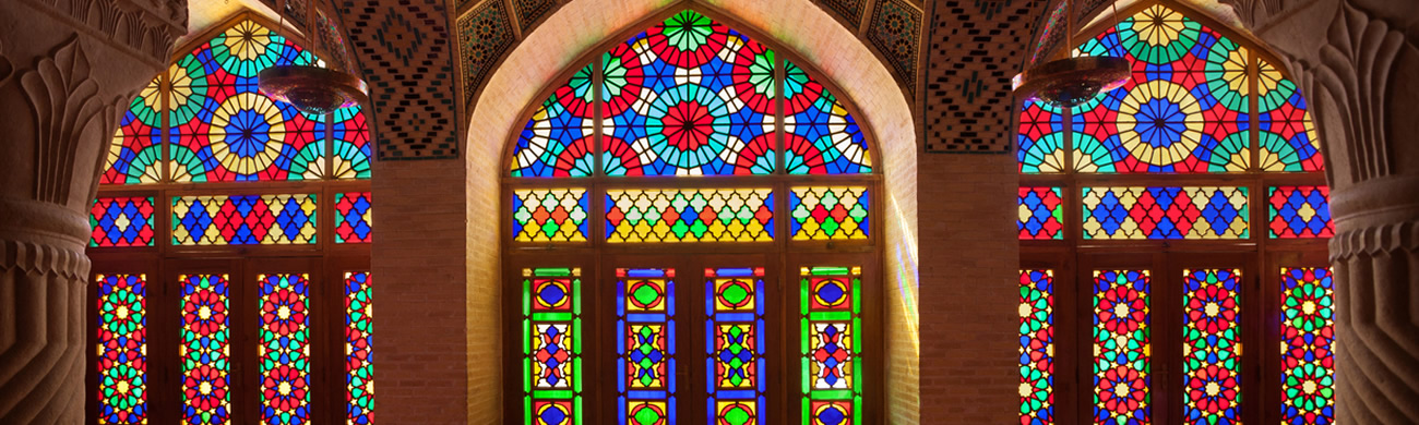 Nasirolmolk Mosque with Colorful Stained Glass Windows - Shiraz, Iran