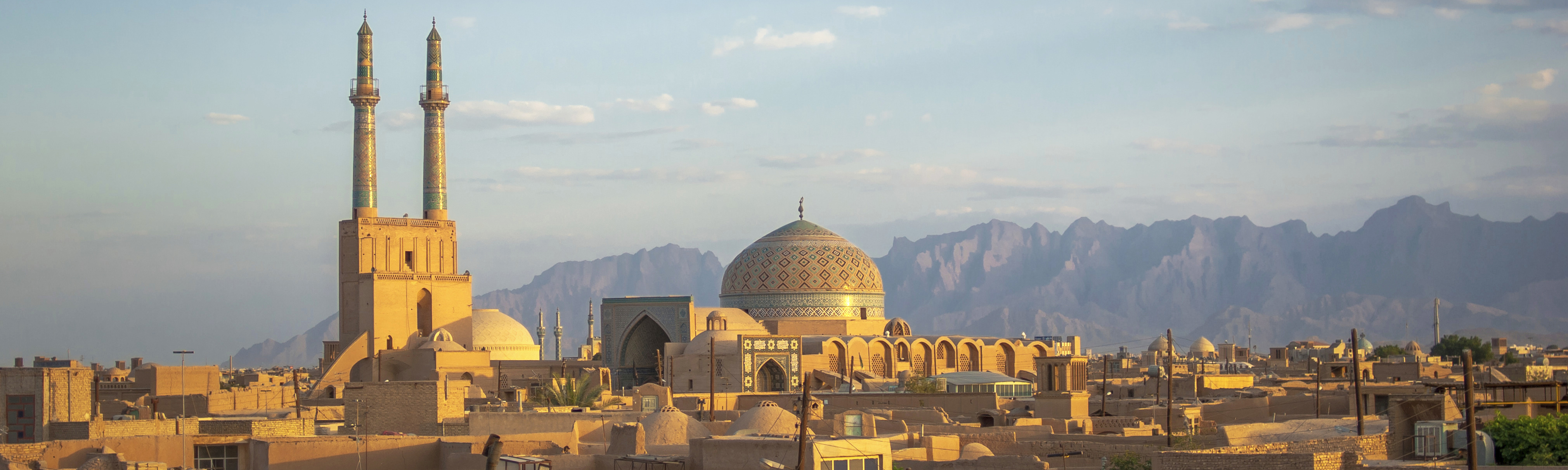 Sunset over Yazd, Iran