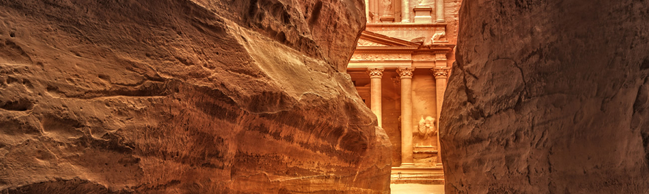 View from entrance of city - Petra, Jordan